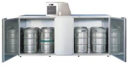Fassvorkühler für 10 KEG-Fässer aus Edelstahl - 1