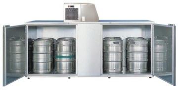 Fassvorkühler für 10 KEG-Fässer aus Edelstahl