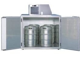 Fassvorkühler für 4 KEG-Fässer aus Edelstahl - 1