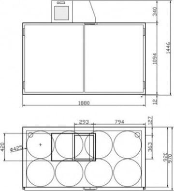 Fassvorkühler für 8 KEG-Fässer aus Edelstahl
