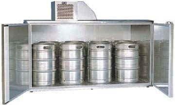 Fassvorkühler verzinktes Stahlblech für 8 KEG Fässer - 1
