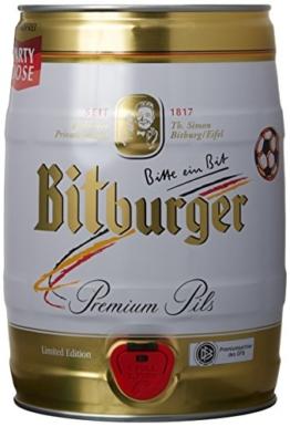 Bierfass Bitburger Pils 5,0 Liter