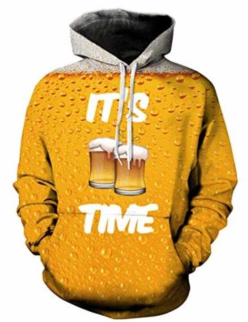 pretty nice 8d0b0 f6de8 Goodstoworld Coole 3D Oktoberfest Bier Pullover Männer Damen It is Beer  time Druck Langarm Hoodie Pullover Sweatshirt Kapuze Jersey