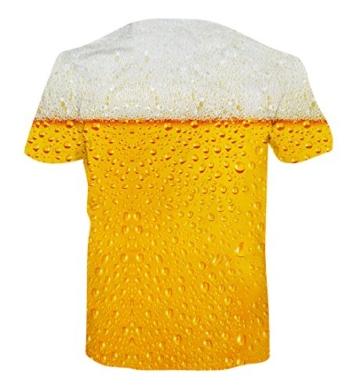 Goodstoworld T Shirt 3D Karneval Bier Druck Herren Damen Printed Sommer Lustig Beiläufige Kurzarm Cooles T-Shirts Tee Top M - 2