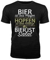 Outfitfaktur Bier ist Salat - lustiges Herren T-Shirt (L) - 1