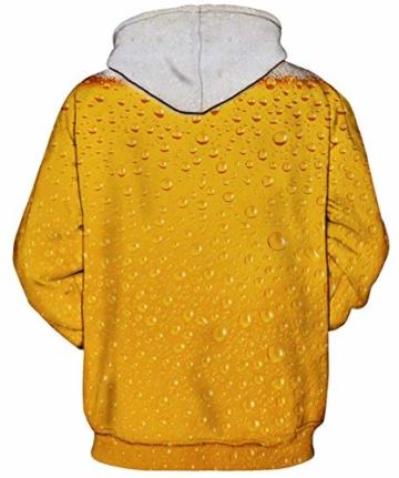 Rave on Friday Unisex 3D Kapuzenpullover Herren Bier Hoodie Pullover Langarmshirts Leichte Sweatshirts mit Taschen XL