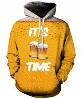 Rave on Friday Unisex 3D Kapuzenpullover Herren Bier Hoodie Pullover Langarmshirts Leichte Sweatshirts mit Taschen XL - 1
